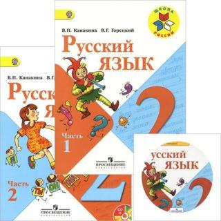 ВСЕ ДОМАШНИЕ РАБОТЫ к учебнику В. П. Канакиной, В. Г. Горецкого в 2-х частях и рабочей тетради В. П. Канакиной в 2-х частях